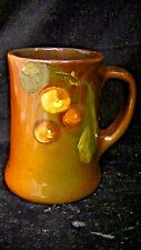 Gorgeous Roseville Art Pottery Hand Painted Rozane Mug, Stein with Cherries
