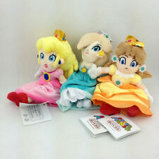 3X Super Mario Bros Princess Peach Daisy Rosalina Plush Toy Stuffed Animal 7""