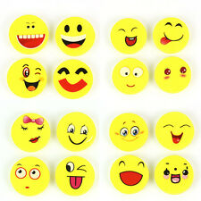 4pcs Emoji Rubber Kids Pencil Eraser Funny Novelty Students Stationery Toy Gift