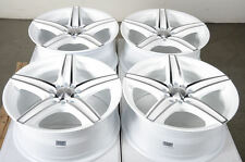 16 5x114.3 5x100 White Effect Wheels Fits Scion Xb Xd Jetta Wrx Impreza Rsx Rims