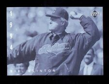 1994 Upper Deck BILL CLINTON Indians American Epic Ken Burns Baseball Card