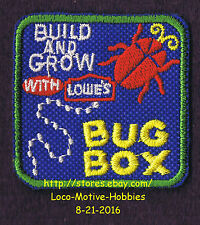 LMH PATCH Badge  BUG BOX Bugbox Beetle Insect LOWES Build Grow Project Series gn