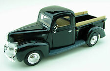 1940 Ford Pickup Black w/V8 Flathead Tri-Power 1:24 Scale Diecast Model Truck