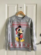adorable disney santa mickey christmas sweater sweatshirt s NEW