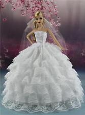 Fashionistas Hochzeit Prinzessinnen Kleider+Schleier Für Barbie Puppe S-161