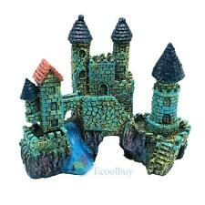 Polyresin Tower Castle Aquarium Ornament Fish Tank Decoration Accessories New #A