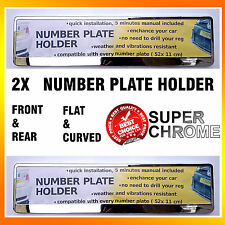 2 X NEW SUPER CHROME NUMBER PLATE TWO SURROUNDS HOLDERS FRAMES PAIR FOR ANY CAR