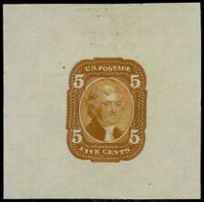 #67-E3b DIE I ESSAY ON SOFT LAID PAPER, ORANGE BROWN XF CV $750.00 BQ2037