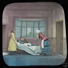 Glass Magic Lantern Slide NELLYS DARK DAYS NO.14 C1890 VICTORIAN TALE
