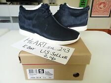New Clarks x Grey Wall Traxter Navy Faux Fur Horse Hair SZ 11 MEN KITH UBIQ 88