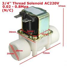 "3/4'' AC 220V G3 / 4"" Male Thread 20mA Electric Water Valve Solenoid Control N/C"