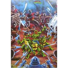 Teenage Mutant Ninja Turtles TMNT - Fight - Original 90's - Retro Poster #TR