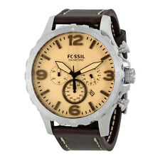 Fossil Nate Silver Dial Mens Chronograph Watch JR1512
