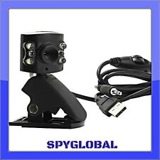 USB 6 LED 1.3 MP Microphone Webcam with Clip - Free 4 LED Webcam with Purchase