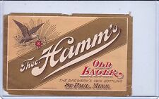 THEO HAMM BREWING CO.   OLD LAGER     ST.PAUL, MN BEER LABEL