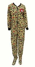 $44 Disney Minnie Mouse Footed Pajamas Baby Costume 1 PC Leopard M or L NWT LTD