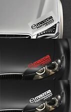 MAZDA PERFORMANCE HEADLIGHT CHECKS - VINYL CAR DECAL STICKER RX-8 300mm long