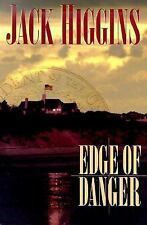 Edge Of Danger By Jack Higgins Used Book Hardback W/Dust Cover