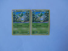 Carte Pokemon Chlorobule 50 pv Noir et Blanc x 2 !!!