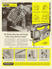 1959 vintage AD, STANLEY Power Tool. Sabre Saw  -041114