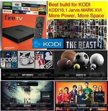 AMAZON FIRE TV BOX 4k JAILBROKEN, XBMC KODI 16.1 fully loaded, Premium Build