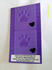 2 x dog paw face paint stencils reusable many times  fundraising present party