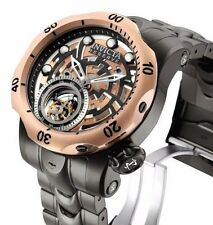 New Men's Invicta 16300 Tourbillon Mechanical Reserve Open Heart Watch