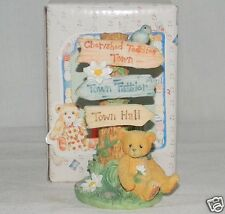 NEW Cherished Teddies CRT109 Town Tattler Signage Hillman Exclusive for Members