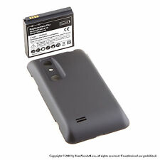 3500mAh Extended Battery for LG Optimus 3D P920 P925 Black Cover