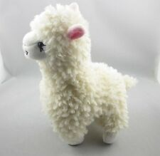 Cute Alpaca Llama Plush Toy Japan Animal Childrens Doll Creamy White 23cm High