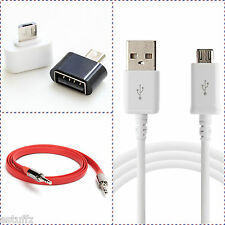 ✔NEW COMBO 3 in 1 Micro Mini USB OTG Cable,Mobile Charging Cable,FLAT Aux Cable✔