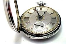 Rich&Elliot Mexbro Fusee Sterling Silver Verge Pocket Watch