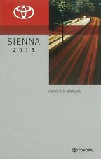 2013 Toyota Sienna Owners Manual User Guide