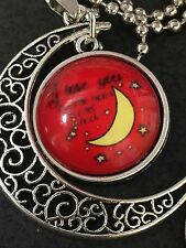 """BIN Celestial Love You to the Moon Charm Tibetan Silver with 18"""" Necklace CM17"""