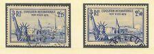 France 1939 New York Expo pair  vf used SG 638 - 638a  CV £21.50