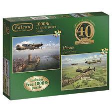 ! nuevo! FALCON DE LUXE HEROES 2 X 1000 Rompecabezas Pieza de aviones de guerra