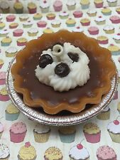 """3"""" Chocolate Fudge Pie 3D  Soy and Gel Wax. Dessert Candles that looks Yummy"""