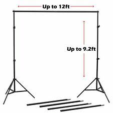 9x12Ft Adjustable Photography Background Stand Photo Backdrop Crossbar