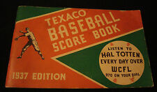 1937 TEXACO BASEBALL SCORE BOOK CHICAGO CUBS & WHITE SOX Read Description