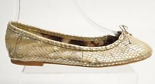 Sam Edelman FELICIA Women's Gold Leather BALLET FLATS Size 6.5M K1022D