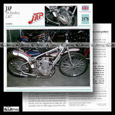 #042.11 JAP 500 SPEEDWAY 1978 Fiche Moto Racing Bike Motorcycle Card