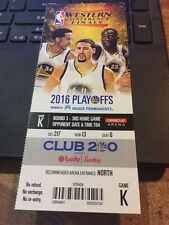2016 GOLDEN STATE WARRIORS V OKLAHOMA CITY THUNDER PLAYOFFS GAME #5 TICKET STUB