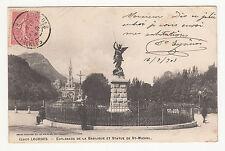 *** LOURDES - Esplanade de la Basilique et Statue St-Michel *** 1903 - CPA 1602
