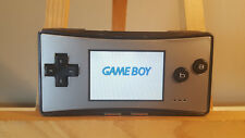 Nintendo GameBoy Micro Console - Black & Silver - Tested & Working