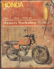 HONDA CB125,CB125J,CB125S,CD125,SL125,CB100,CL100,SL100 HAYNES MANUAL 1970-1977