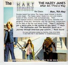 (EL446) The Hazey Janes, After All / Find A Way - 2004 DJ CD