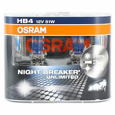 OSRAM Night Breaker Unlimited - Upgrade Headlight Bulb - HB4 - TWIN PACK