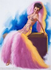 1940s Pin-Up Girl In Costume Burlesque Picture Poster Print Art Pin Up