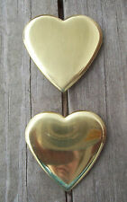 "Bridle Rosettes Solid Brass  Heart shape 7/8"" loop"