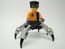 Lego personaje agents Spy clops agt015 set 8634 perlgraue piernas